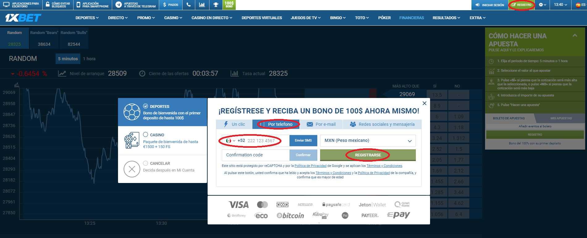 1xBet registro en Mexico lleva las apuestas deportivas a otro nivel